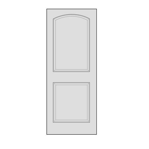 sc 1 st  Midwest Manufacturing & 2-Panel Arch Oak Interior Door